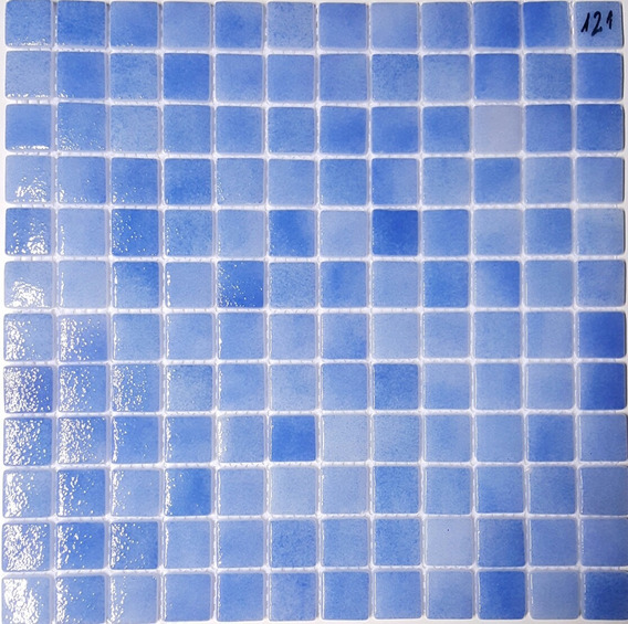 Venecita Azul Claro Niebla Calidad Premium 2,5x2,5 X M2