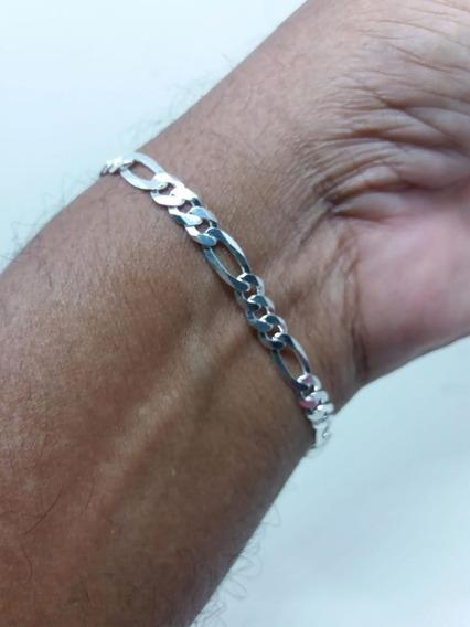 Pulseira De Prata 925 Legitima Comp;21cm,larg;5mm,peso;5g,