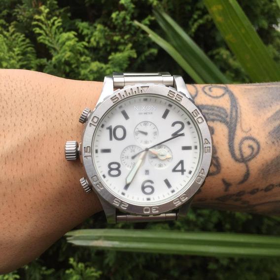 Relógio Nixon 51-30 Chrono Prata Original
