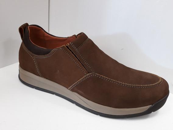 Zapato De Cuero Hombre Freeway Easywear Darwin Cuero Nobuck