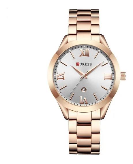 Relógio Feminino Curren Aço A Provad