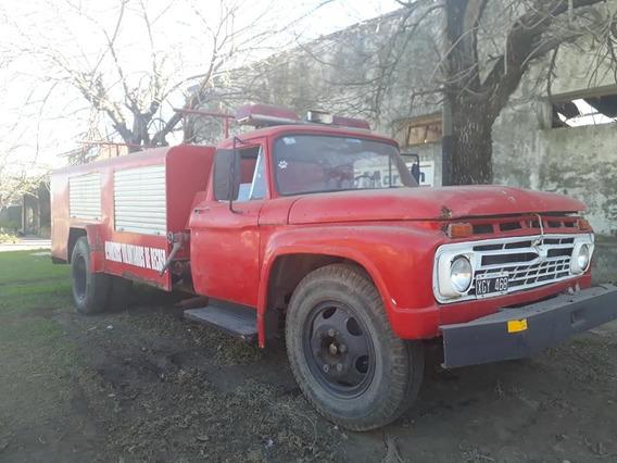 Camion Autobomba. Ford 600 Con Tanque De 3500.