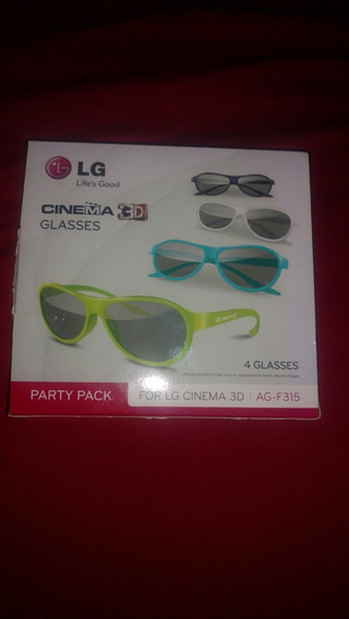 4 Óculos 3d Lg Passivo Ag-f315 Original