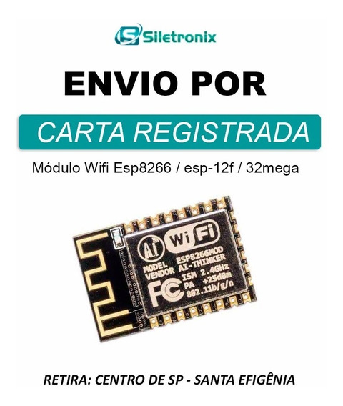 Módulo Wifi Esp8266 * Esp8266mod * Esp-12f * 32 Mega