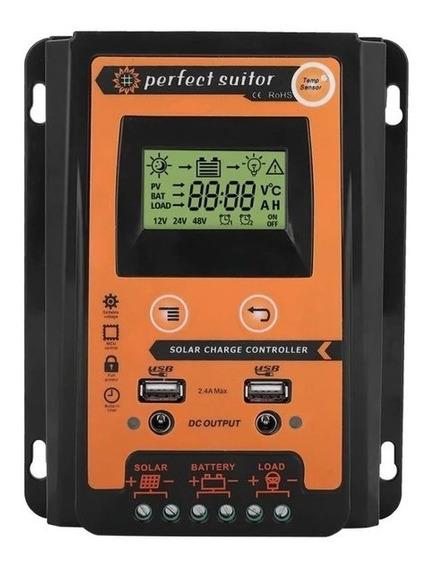 Controlador Carga Solar Mppt 70a 12v 24v Suitor Envio Imedia