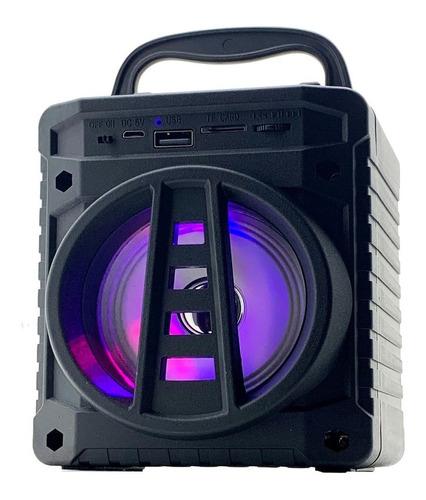 Caixa de som Grasep AL-301 portátil com bluetooth preta