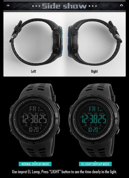 2 Relógio Luz Negra De Luxo Militar Sport Eletrônico Digital