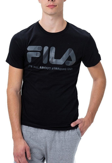 Fila Remera Moda Hombre All Training Negro