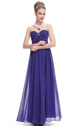 Vestido De Fiesta Azul Talle L (mod.31)