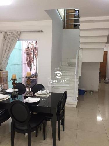 Sobrado À Venda, 175 M² Por R$ 848.000,00 - Vila Scarpelli - Santo André/sp - So3268