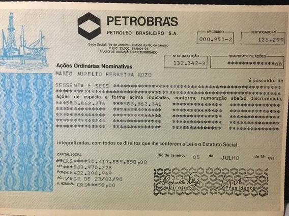 Petrobras Cautela Com 66 Açoes Ordinarias On 1987