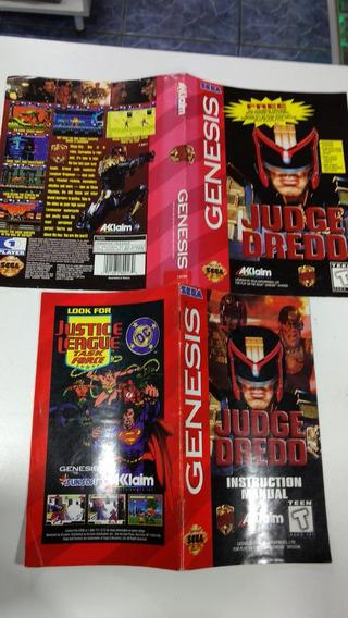 Mega Drive Genesis Manual Encarte Capa Jogo Original O Juiz
