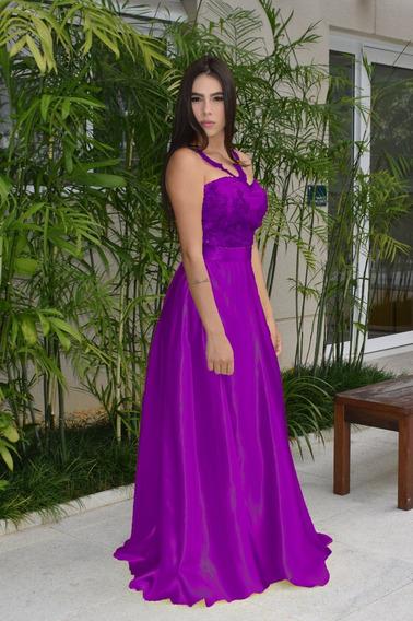 Vestido Madrinha Formatura Festa Renda Luxo Varias Cores
