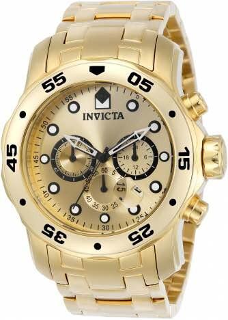 Relógio Invicta 0074 Original Banhado A Ouro 18k