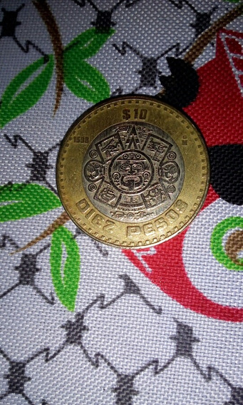 Monedas Antiguas Año 1598/10 Pesos Estados Unidos Mexicanos