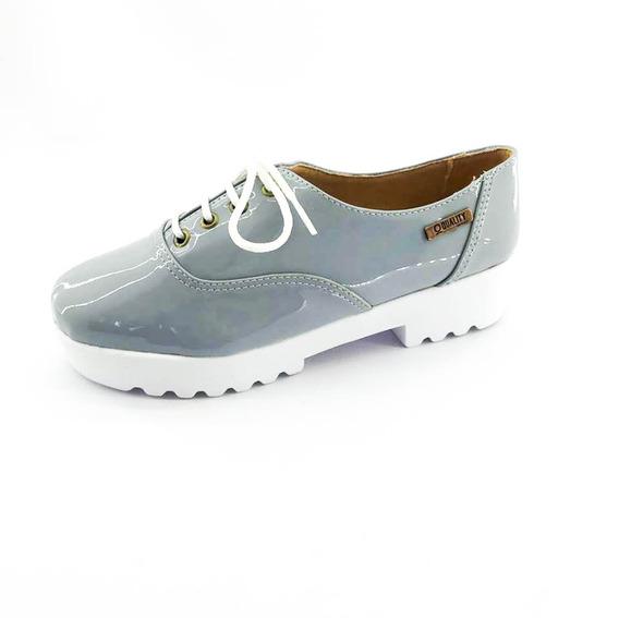 Tênis Tratorado Quality Shoes Feminino 005 Verniz Cinza