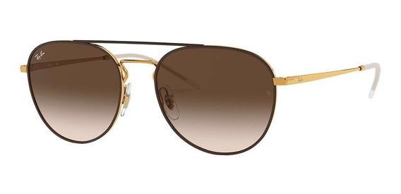 Ray-ban Rb3589 905513 55 - Dourado/marrom Gradiente