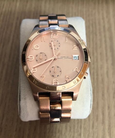 Relógio Feminino Marc Jacobs Ref Mbm3074 Rose Gold Pouco Uso