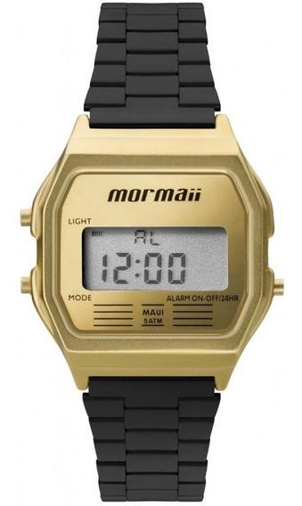 Relógio Vintage Mormaii Mojh02ak/4d Preto/dourado