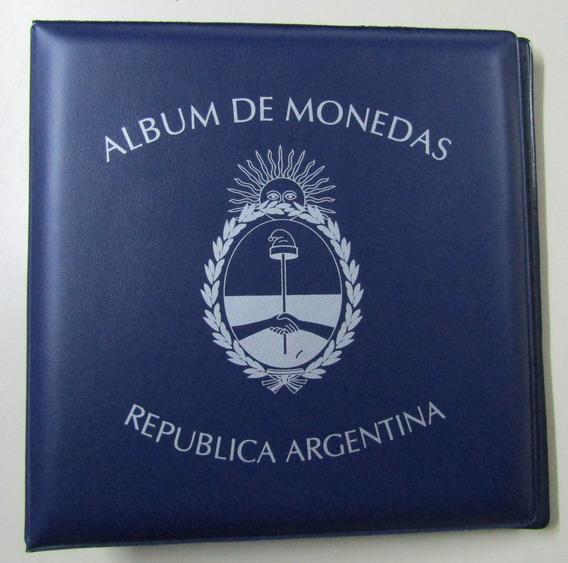 Carpeta Vk Para 180 Monedas Con Logo De Argentina
