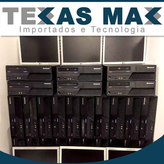 Lote 02 Computadores Lenovo + Monitor 15+teclado +mouse