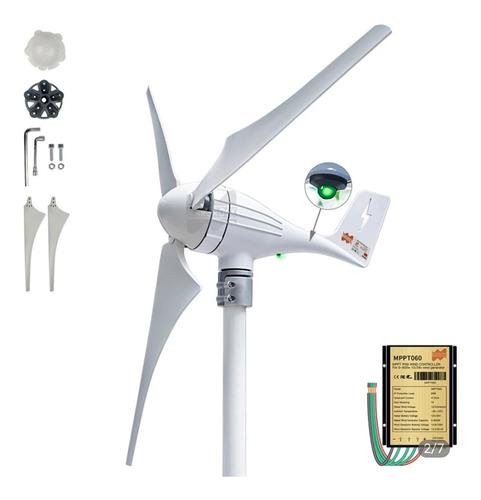 Imagem 1 de 6 de Aerogerador Turbina Energia Eólica 600w 12/24v - C/ Controla
