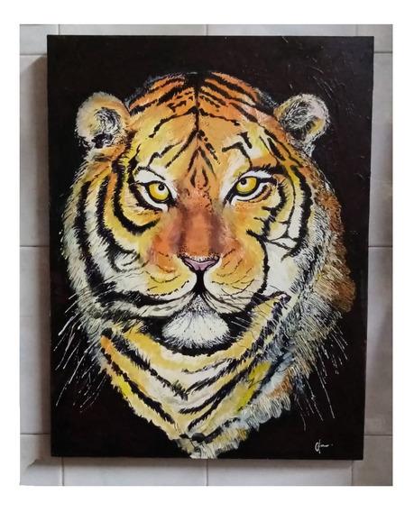 Pintura Cuadros Original Arte Tigre