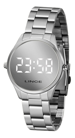 Relógio Lince Feminino Prata Mdm4617l Digital Espelhado