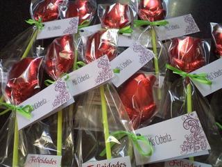 10 Rosas Flores De Chocolate Mejor Precio Souvenir
