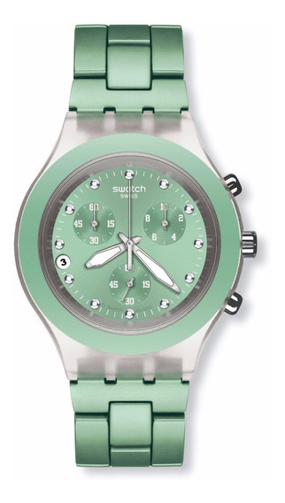 Relógio Swatch Full Blooded Mint Svck4056ag
