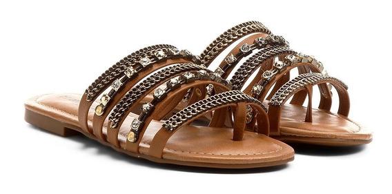 Rasteira Look Fashion Multi Pedras Top~~promoçao~~
