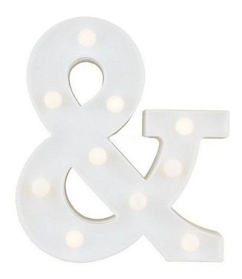 Luminária Simbolo & Led Decorativa Luminoso Festa Decoração