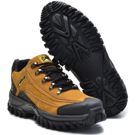 Sapato Caterpillar + Cinto + Carteira Couro Cru Original