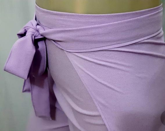 Calça Pantacourt Envelope Transpassada Infinity Plus Size