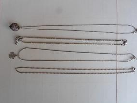 4 Colar Corrente Prata Bali Todas Tem 16 Gramas 44 Cm 29