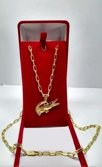 Cordão Cartie Banhado A Ouro 18k + Pingente Frete Gratis