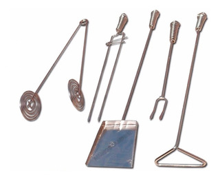 Set Accesorios Para Asado Parrilla Kit Juego Parrillero