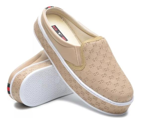 Sapato Tenis Slip On Mule Sapatilha Feminino Babuche Lanç