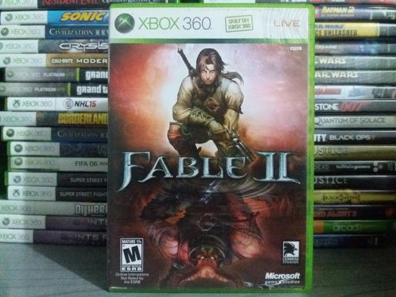 Jogo De Rpg Fable 2 Xbox 360 Original Mídia Física