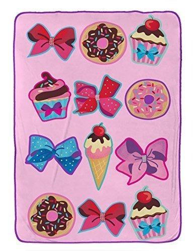 Nickelodeon Jojo Siwa Siga Sus Sueños Pink Plush 62 X 90 Tw