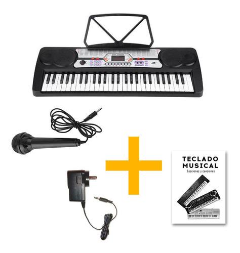 Imagen 1 de 8 de Órgano Teclado Musical 54 Teclas Meike Mk4300 + Fuente Promo
