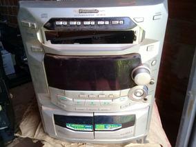 Micro System Panasonic Sa-ak18 (c/defeito Para Tirar Peças)