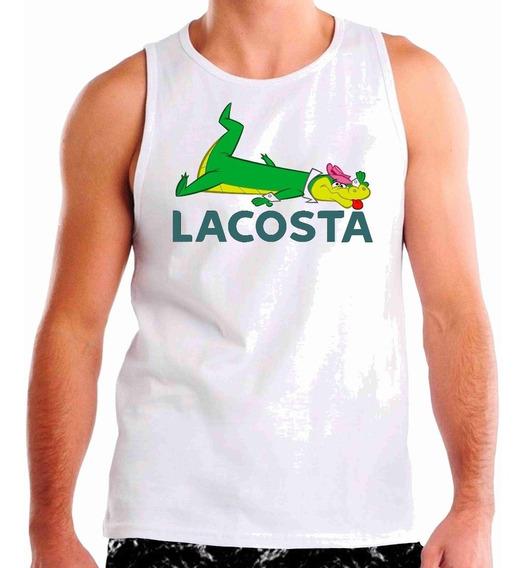 Camiseta Regatas Lacosta Wally Gator, Academia Desenho Hq