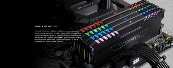 Corsair Vengeance Rgb 16gb (2x8gb) Ddr4 4000mhz C19 Desktop