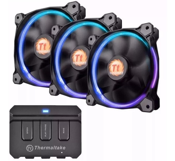 Ventiladores Thermaltake Riing 12 Led Rgb Fan (3 Fan Pack)
