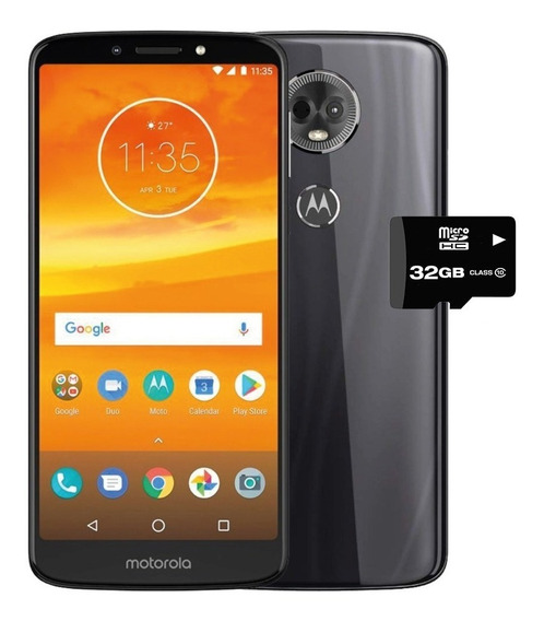 Motorola Moto E5 Plus Single Sim 16gb - Gris + Microsd 32gb