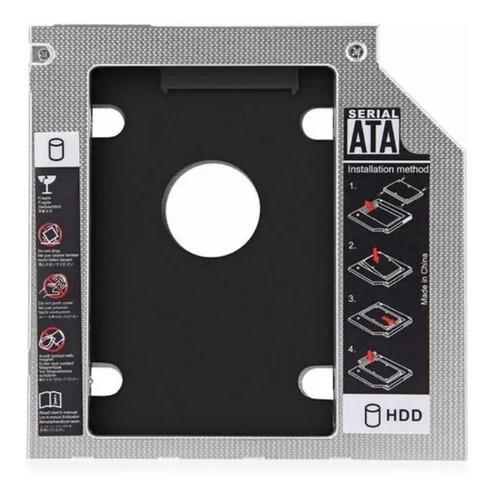 Adaptador Disco 2.5 A Bahía Cd Notebook 9.5mm Con Tapa