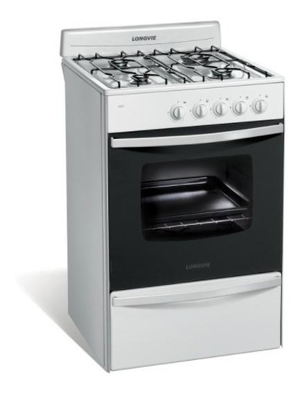 Cocina A Gas Longvie Mod. 13231bf - Blanca 56cm