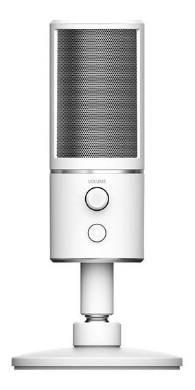 Microfone Razer Seiren X supercardióide mercury white