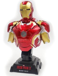 Iron Man Mark Busto De Coleccion Con Luz Led Marvel Avengers
